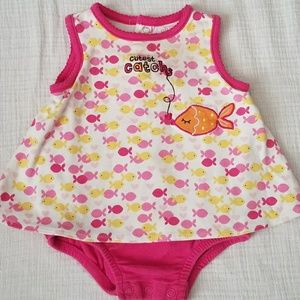 Girls Dress Onsie- 6-9 Months